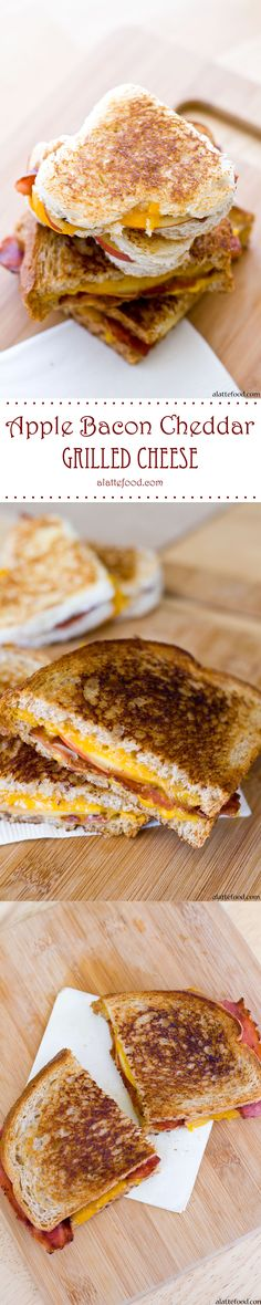 Apple Bacon and Cheddar Grilled Cheese: This savory sandwich is complemented by the sweet apple to make it comfort food to the max. When cut in hearts, it's perfect for day 9 of the 14 Days of Love!