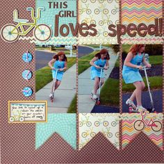 #papercraft #Scrapbook #layout.  This Girl Loves Speed! : Gallery : A Cherry On Top