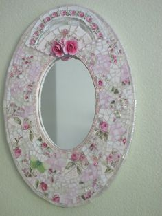Mosaic mirror. Who wouldn't look pretty when they look into this mirror.