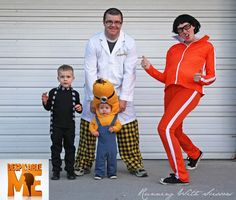 Despicable me Family Halloween Costume Ideas with Kids and toddlers