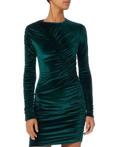 Yarden Teal Velvet Dress, TURQUOISE, hi-res
