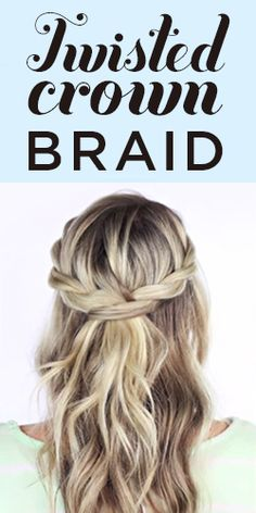 Add a little twist to your look with this Twisted Crown Braid Tutorial #hair #inspiration