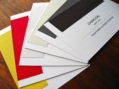 swatch cards... love this idea!
