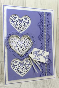Happy Tuesday, I thought I would hare this card which was one of my demos on hochanda shows last week. The One Day Special featuring th. Valentine Day Cards, Valentines, Happy Anniversary Cards, Sue Wilson, Engagement Cards, Heart Cards, Card Making, John Grisham, Paper Crafts