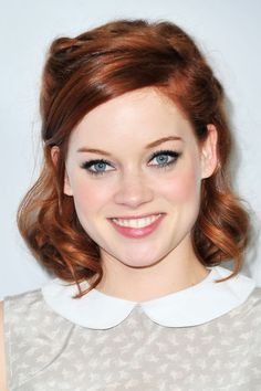 Jane Levy - hair color style makeup If I ever grow my hair out, this is as far as I'd go lol.