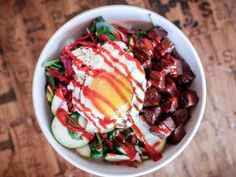 Chipotle was fast food gold for the healthy eating set. Sure, you could grab a gut busting burrito with all the gooey, cheesy, fatty toppings --. Korean Bibimbap, Asian Recipes, Ethnic Recipes, Trader Joes, Chipotle, Restaurant Bar, Food Photo, Cravings, Food And Drink
