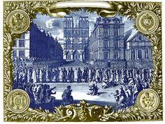 Procession devant Notre-dame de Paris