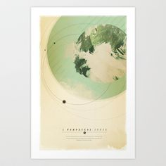 A Perpetual Sense Art Print by theartdepartment - $19.99 This popular print features a quote from the classic novel Mrs. Dalloway by Virginia Woolf combined with imagery of an expanding Earth in a surreal and subtly vintage space landscape.