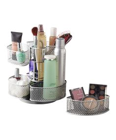 Look at this Silver Removable Compartment Cosmetic Carousel on #zulily today!
