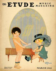 Etude Music Magazine. March 1925; John Whitcomb, cover artist.