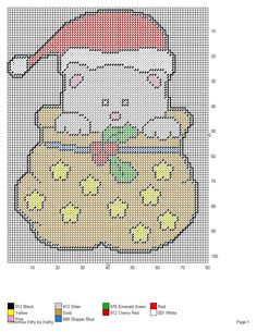 CHRISTMAS KITTY by KATHY -- WALL HANGING