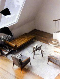 pop-deco: (via Mid Century Architecture) Modern Loft, Mid-century Modern, Modern Interior Design, Interior Architecture, Design Interiors, Mid Century Modern Furniture, Beautiful Interiors, Interiores Design, Decoration