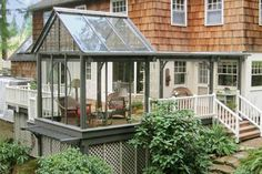 need me a little sunroom - love this idea!  and I have the perfect spot!