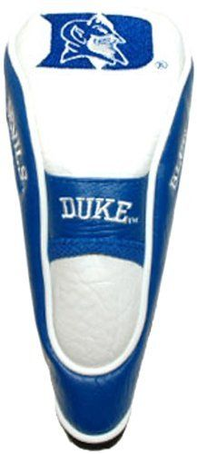 NCAA Duke Hybrid Team Golf Club Head Cover by Team Golf. $18.69. Fits all utility, rescue and fairway clubs. Velour lined for extra club protecion. Velcro closure. Made with Buffalo Vinyl, Polyester Knit and Mesh. School spirit isn't something you leave at home. Take your school pride to the links with the NCAA® hybrid headcover from Team Golf®. The easy on/off cover fits all hybrid and utility clubs, and even many fairway clubs. The cover boasts simulated leather sides an...