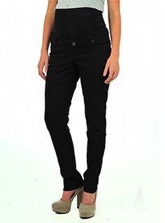 Patch - straight stretch black jeans