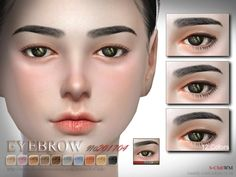 The Sims Resource: Eyebrows F 201704  by S-Club • Sims 4 Downloads