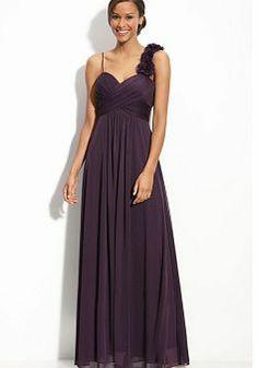 Chiffon Sweetheart A line Empire Floor Length With Flowers Coast Dresses - Angeldress.co.uk