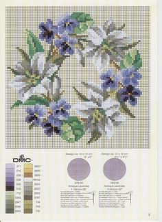 ru / Фото - Permin of Copenhagen Nostalgia - natashakon Counted Cross Stitch Patterns, Cross Stitch Designs, Cross Stitch Embroidery, Ribbon Embroidery, Embroidery Patterns, Cross Stitch Boards, Cross Stitch Flowers, Cross Stitching, Needlework