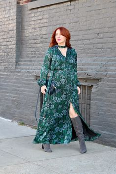 Maxi Dress and Boots