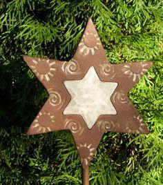 Frostfester Keramik-Stern