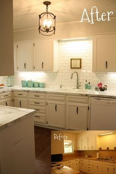 Seriously fabulous super low budget kitchen redo! {Living the Hyde Life}