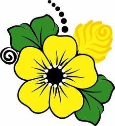 Flower Graphic Design, Simple Flower Design, Simple Flowers, Flower Pattern Drawing, Simple Flower Drawing, Flower Art, Tole Painting, Fabric Painting, Rock Flowers