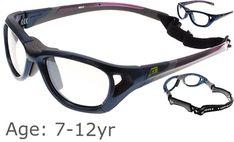 7a9b15da89c5 [7-12 yrs] Rec Specs Sport Shift Sports Glasses / Goggles ASTM [Shiny Navy  Blue - 52 Size]