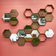 Think Fabricate Project: Wall*nut Hexagons – This wall is artfully arranged with a grouping of Wall*nut Hexagons, a series of sculptural shelving modules and decorative wall hangings. Use individually or combine them in a group of various styles and functions to form the composition that works for you.Each Wall*nut hangs on a cleat, which is provided along with installation instructions. We provide installation within the New York Metropolitan area or by special request. Custom options and…