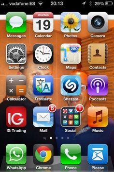 20:13 de nuevo... Serendipity, Calendar, Messages, Phone, Telephone, Phones, Menu Calendar