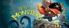 Here Be Monsters Rock, Illustration, Monsters, Pictures, Painting, Art, Photos, Art Background, Skirt