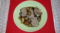 roasted pork fillet with potatoes and morellino sauce