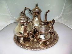 Silver Tea Set with Tray: Lot 237 BR2 - Listing # 71892