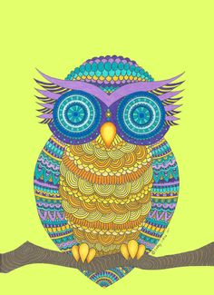 Henna Owl Art Print   Society6.com