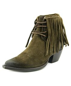 FRYE | Frye Sacha Fringe Chukka Women  Pointed Toe Suede Green Bootie #Shoes #Boots & Booties #FRYE