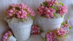 weefsel bloemen als souvenir