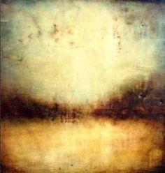 encaustic, River's Edge by Paula Blackwell