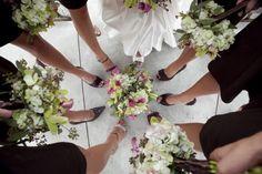 Bridesmaids choose their own shoes...
