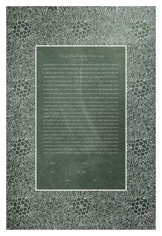 Papercut Ketubah - Trellis