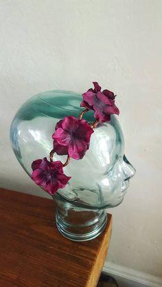 Dark Purple Flower Crown, ready to ship! 2 in stock at www.BohoEarthHeadbands.etsy.com Plum Flower Crown, Hippie Flower Tiara, Boho Flower Headband, Purple Flower Tiara, Summer Flower Crown