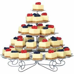 cheesecake in addition to wedding cupcakes... a great alternative for a summer wedding