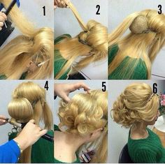 DIY long hairstyle