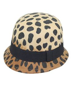 Look what I found on #zulily! Jeanne Simmons Accessories Cheetah Wool Cloche by Jeanne Simmons Accessories #zulilyfinds