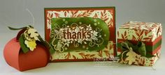 Control Freaks Blog Hop for August 2014. Stampin' Up! Seasonally Scattered, Curvy Keepsakes Box , Gift Box Punch Board box and Color Me Autumn designer paper. Debbie Henderson, Debbie's Designs.