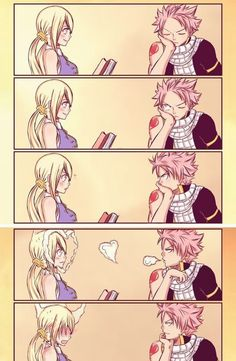 Natsu and Lucy= Nalu from fairy tail - anime Natsu Fairy Tail, Fairy Tail Gray, Fairy Tail Meredy, Fairy Tail Loki, Art Fairy Tail, Fairy Tail Amour, Image Fairy Tail, Fairy Tale Anime, Fairy Tail Quotes