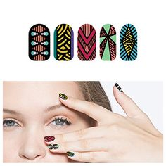 Tattify Tribal Nail Wraps - Cell Mates (Set of 22) ** More info could be found at the image url.