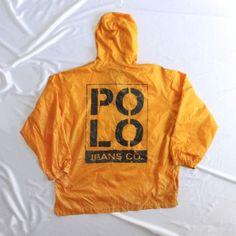 ef2672f9a Vtg Polo Jeans Co Ralph Lauren Sport RL Orange Windbreaker Nylon Jacket Coat.  VTG90S · Vintage Polo