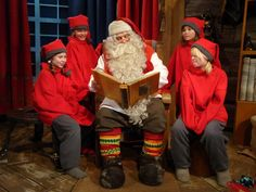 Santa Claus and Elves in Lapland Finland