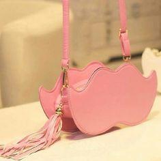 Moustache sling bag ♥