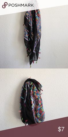 Scarf This light and airy scary with tassels is super cute to dress up a casual outfit to go downtown or even to the beach! Accessories Scarves & Wraps