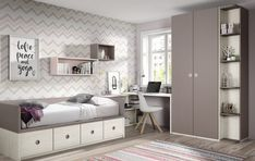 Recursos para cambiar de habitación: de niños a adolescentes – Deco Ideas Hogar Awesome Bedrooms, Cool Rooms, Small Rooms, Small Balcony Decor, Multipurpose Furniture, Bedroom Closet Design, Kids Bedroom Furniture, Dream Rooms, My New Room